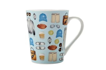 Christopher Vine 420ml The Edit Casual Guy for Hot Cold Coffee Tea Mug Cup Blue