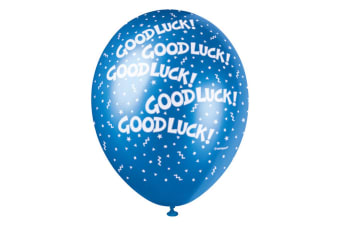Unique Party 12 Inch Good Luck Balloon (Pack Of 5) (Multicoloured)