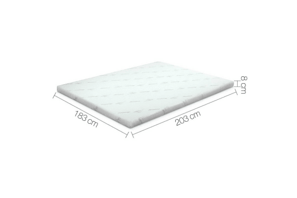 Giselle Bedding Cool Gel Memory Foam Mattress Topper Bamboo Cover 8cm (King)