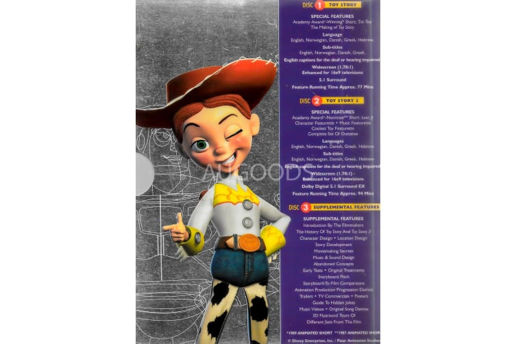 Toy Story Collector's Edition 3 Disc Set - Rare- Aus Stock DVD PREOWNED: DISC LIKE NEW