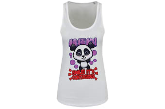 Handa Panda Ladies/Womens Smile Floaty Tank (White)