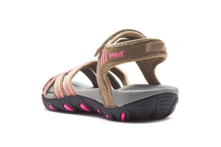 Gola Womens/Ladies Safed Walking Sandals (Taupe/Hot Pink) (5 UK)
