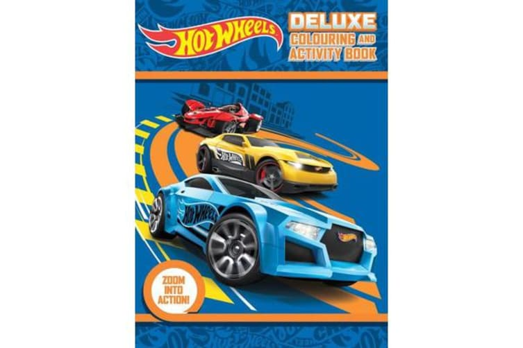 Hot Wheels Deluxe Colouring and Activity Book