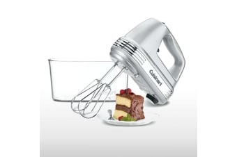 Cuisinart HM-90BCSA Silver 9 Speed Electric Hand Mixer w  Storage Case LED 220W