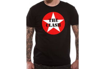 The Clash Unisex Adults Star Badge Print T-Shirt (Black)