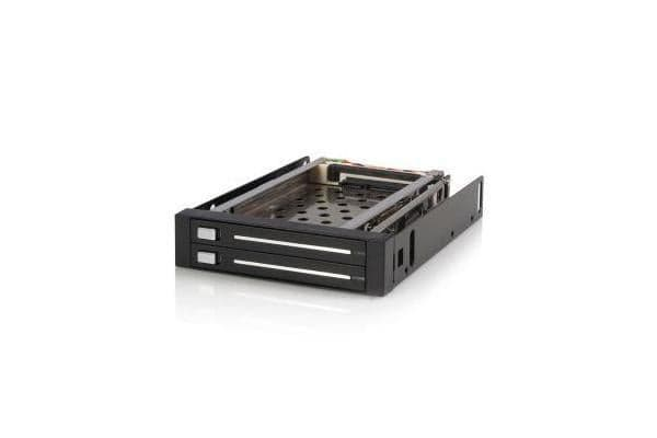 STARTECH 2 Drive 2.5in Trayless Hot Swap SATA Mobile Rack Backplane - Dual Drive SATA Mobile Rack Enclosure for 3.5 HDD