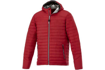 Elevate Mens Silverton Insulated Jacket (Red) (M)