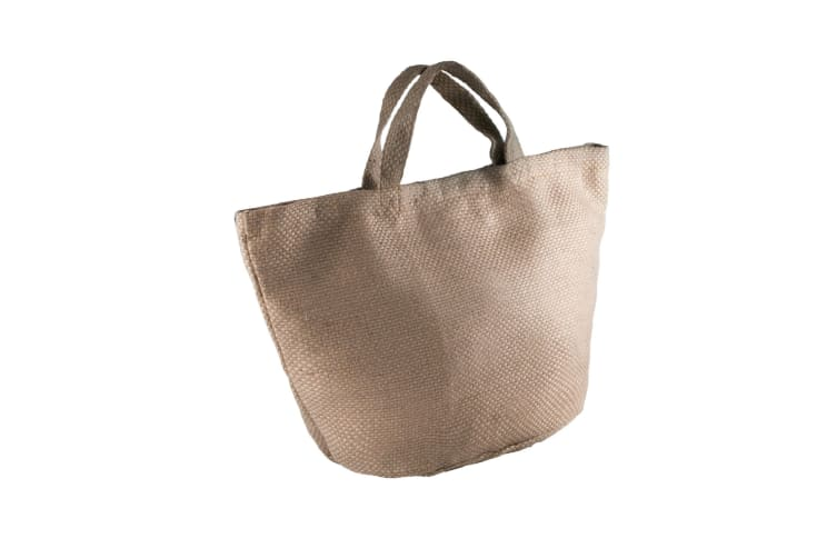 Kimood Womens/Ladies Fashion Jute Bag (Pack of 2) (Natural/Cappuccino) (One Size)