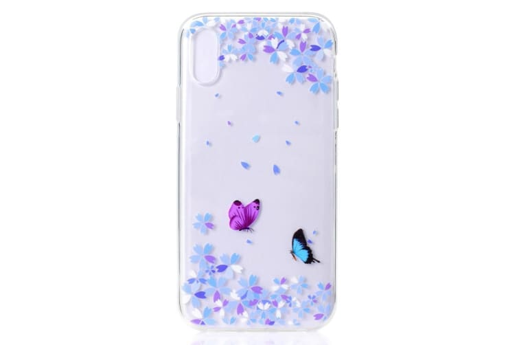 For iPhone XS MAX Cover Grippy Thin Slim Shockproof Mobile Phone Case Variegated