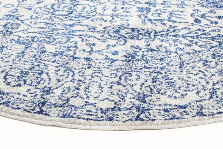 Frost Blue Transitional Rug 200x200cm
