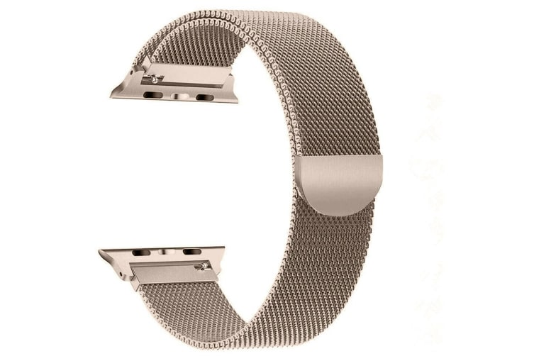 [Apple watch]Series 5 4 3 2 1 Milanese Magnetic Stainless Loop Strap Band 42mm/44mm iwatch-Vintage Gold