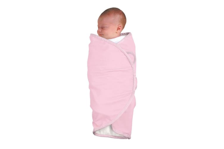 The First Years Baby/Infant/Newborn Deluxe Wrap Swaddler Swaddle Blanket Pink