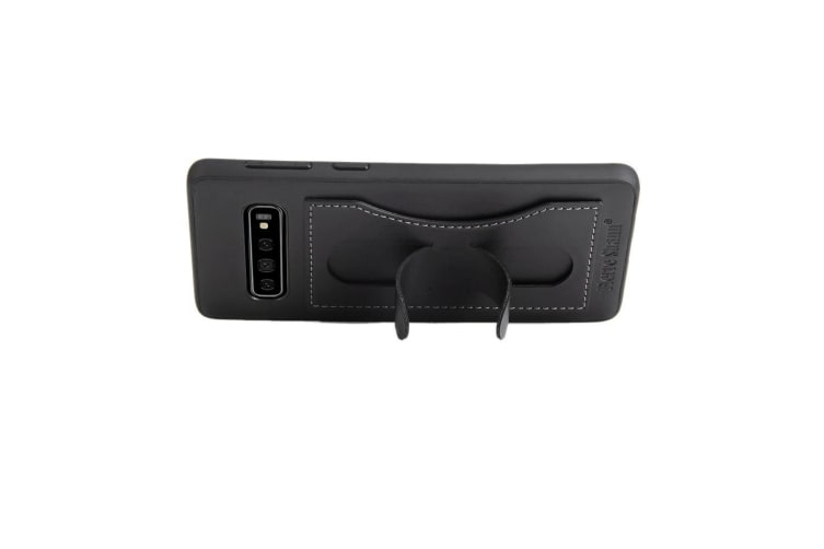For Samsung Galaxy S10 Case  Black Fierre Shann Luxury Leather Kickstand Cover