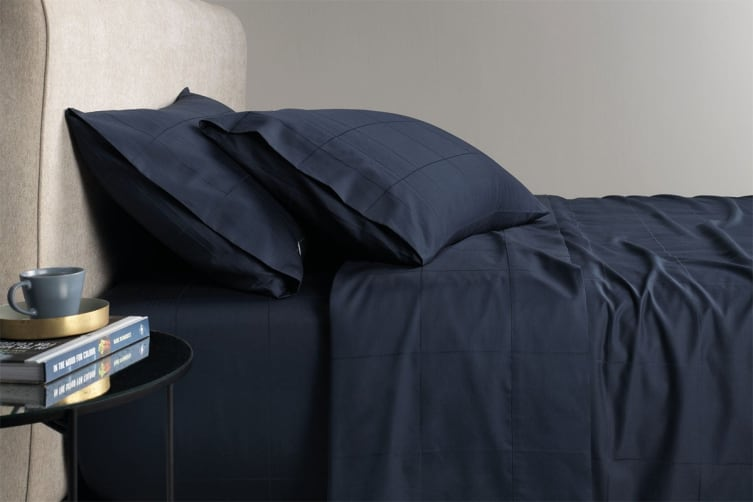 Sheridan Freedman 300TC Cotton Sateen Sheet Set (Midnight, Queen)