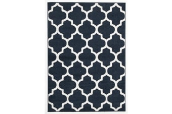 Indoor Outdoor Morocco Rug Navy