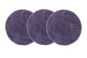 Pack of 3 Freckles Round Shag Rugs Purple