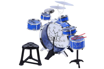 Drum Kit Play Set Instrument for Kids - Blue