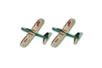 2PK Guillow's Jetfire Outdoor Glider Throw Flying Plane Kids/Child Airplane Toys