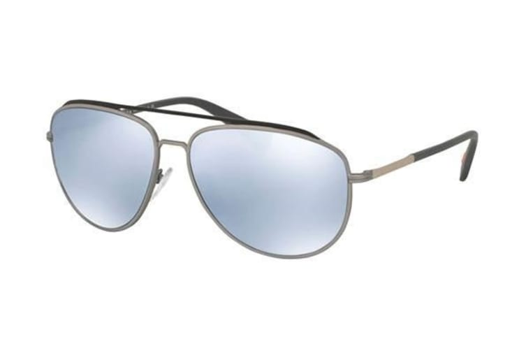 Prada Linea Rossa PS55RS QFP5Q0 59 Rubber Grey Mens Sunglasses