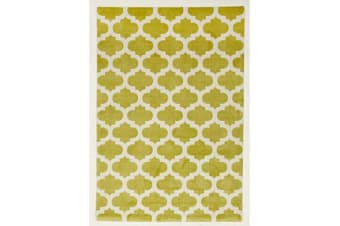 Trellis Stylish Design Rug Green