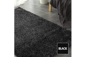 New Designer Ultra Soft Shaggy Floor Black Confetti Rug 230x160cm