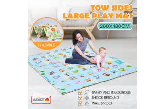 Foldable Two Sides Large Play Mat 200x180cm