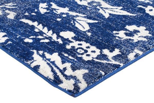 Donna Navy Transitional Rug 300x80cm