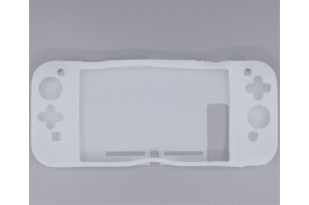 Anti-Scratch Back Case For Nintendo Switch Ergonomic Accessories Skin With Joy-Con & Thumb Grips White