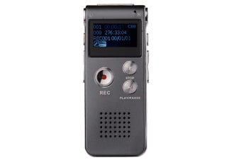 WJS 16GB Digital Voice Recorder Voice Activated Recorder with Playback Mini Audio Recorder Portable Tape Dictaphone with USB-Grey