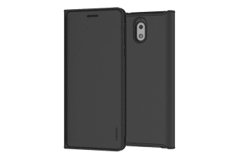 Nokia 3.1 Slim Flip Cover - Black