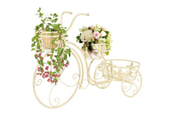 vidaXL Plant Stand Bicycle Shape Vintage Style Metal