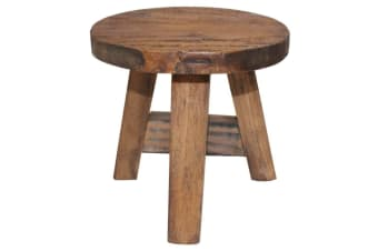 vidaXL Stool Solid Reclaimed Wood 20x20x23 cm