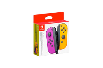 Nintendo Switch Joy Con Controller Pair - Neon Purple and Neon Orange
