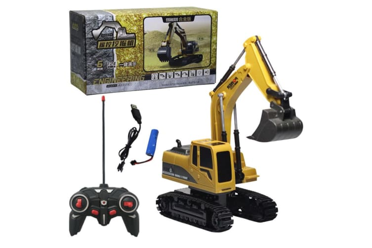 Select Mall Remote Control DIY Construction Vehicle Electric Remote ControlProgramming Assembling Car Toys