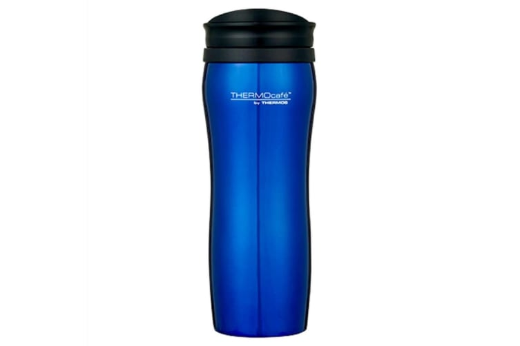 Thermos Thermocafe 400ml Travel Tumbler - Red Or Blue-blue