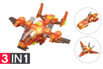 Lego Compatible MetaMorph Elite Blocks (Light Up Jet)