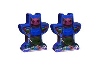 2x 24pc PJ Masks Signature Kids Game Mystery Jigsaw Puzzle Toys 3y+ w/Tin Box