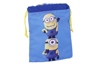 Despicable Me Minions Childrens/Kids Official Drawstring Lunch Bag (Blue/Yellow)