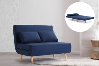 Ovela Jepson 2 Seater Sofa Bed (Midnight Blue) - Kogan.com