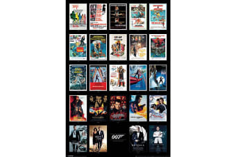 James Bond Movies Poster (Multicoloured)