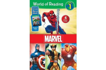 World of Reading Marvel Boxed Set - Level 1 - Purchase Includes Marvel eBook!