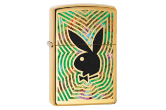 Zippo Playboy Bunny Genuine Polish Brass Fusion Finish Cigar Cigarette Lighter