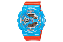 Casio G-Shock 90's Pop Ana-Digital Watch - Orange/Blue (GA110NC-2A)