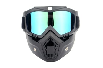Select Mall Motorcycle Helmet Riding Goggles Glasses With Removable Face Mask Detachable Fog-proof Warm Goggles-Multi