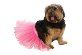 Pink Pet Tutu Dress - Medium-large