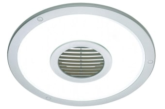 Heller Silver Round 250mm Ceiling Light/Exhaust Fan/Air Flow/Bathroom/Laundry
