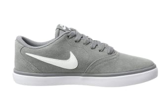 Nike SB Check Solarsoft Men's Skateboarding Shoe (Grey/White, Size 7.5 US)