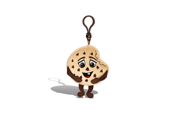 Whiffer Sniffers - 'Chunky Chuck' Choc Chip Cookie Scented Backpack Clip