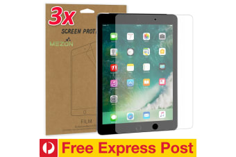 "[3 Pack] Apple iPad 9.7"" Anti-Glare Matte Film Screen Protector by MEZON – Face ID Compatible, Case and Pencil Friendly (iPad 9.7"", Matte) – FREE EXPRESS"