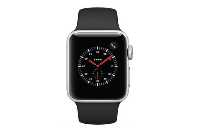 Apple Watch Series 3 A1891 GPS + Cellular 16GB 42mm Silver Stainless Steel [Excellent Grade]